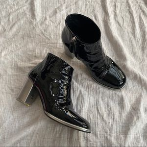 CHANEL PATENT LEATHER BOOTS
